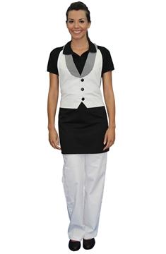 Ρουχα Εργασιας, φορμες εργασιας, στολες  της Ποδιά γιλέκο γυναικεία με πέτο (ΚΩΔ: 1A1113)
