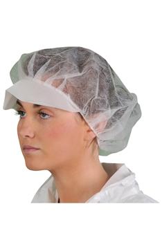 Ρουχα Εργασιας, φορμες εργασιας, στολες  της Καπέλο μιας χρήσης με γείσο σε συσκευασία των 100 (ΚΩΔ: 5530-074)