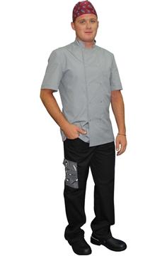 Ρουχα Εργασιας, φορμες εργασιας, στολες  της Σακάκι μάγειρα με κοντό μανίκι και κόπιτσες (ΚΩΔ:1S1137)