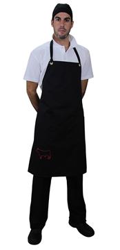 Ρουχα Εργασιας, φορμες εργασιας, στολες  της Ποδιά με στήθος και κέντημα (ΚΩΔ:1A138)