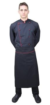 Ρουχα Εργασιας, φορμες εργασιας, στολες  της Ποδιά μισή μάγειρα με φιτίλι (ΚΩΔ:1A1290B)