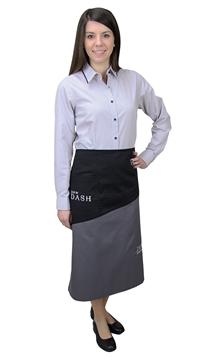 Ρουχα Εργασιας, φορμες εργασιας, στολες  της Ποδιά σέρβις μισή δίχρωμη (ΚΩΔ:1N1086)