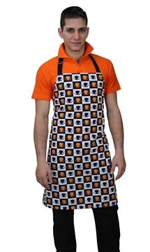 Ρουχα Εργασιας, φορμες εργασιας, στολες  της Ποδιά στήθους ριγέ/εμπριμέ (ΚΩΔ:1A1090A)