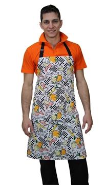 Ρουχα Εργασιας, φορμες εργασιας, στολες  της Ποδιά στήθους ριγέ/εμπριμέ (ΚΩΔ:1A1090B)