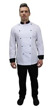 Ρουχα Εργασιας, φορμες εργασιας, στολες  της Μπλούζα Chef (ΚΩΔ:1S1153)
