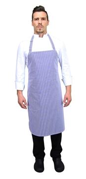 Ρουχα Εργασιας, φορμες εργασιας, στολες  της Ποδιά στήθους ριγέ/εμπριμέ (ΚΩΔ:1A1090)