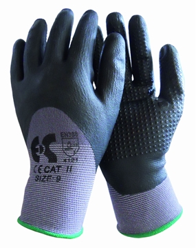 Ρουχα Εργασιας, φορμες εργασιας, στολες  της Γάντια λεπτά ΝΒR μαύρα με μπιμπίκι  Συσκευασία των 10 τεμ. (ΚΩΔ: 8150-126)