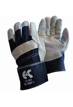 Ρουχα Εργασιας, φορμες εργασιας, στολες  της Γάντια δερματοπάνινα Συσκευασία των 10 τεμ. (ΚΩΔ: 8602-061)