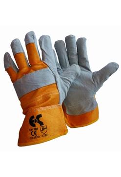 Ρουχα Εργασιας, φορμες εργασιας, στολες  της Γάντια δερματοπάνινα  Συσκευασια των 10 τεμ. (ΚΩΔ: 8602-041)