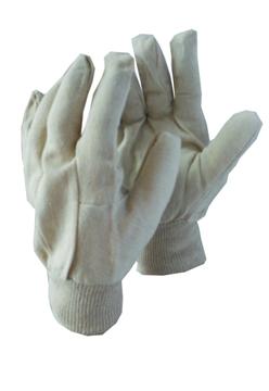 Ρουχα Εργασιας, φορμες εργασιας, στολες  της Γάντια πάνινα βαμβακερά  Συσκευασια των 10 τεμ. (ΚΩΔ:8300-001)