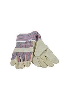 Ρουχα Εργασιας, φορμες εργασιας, στολες  της Γάντια δερματοπάνινα  Συσκευασία των 10 τεμ. (ΚΩΔ: 8602-019)