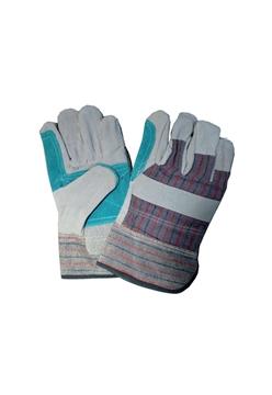 Ρουχα Εργασιας, φορμες εργασιας, στολες  της Γάντια δερματοπάνινα EN-Π Συσκευασια των 10 τεμ.(ΚΩΔ:8602-039)