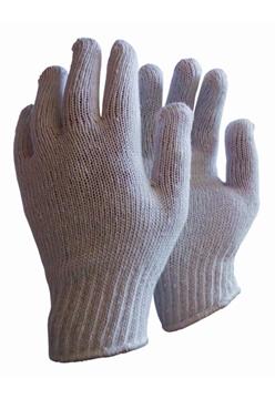 Ρουχα Εργασιας, φορμες εργασιας, στολες  της Γάντια πλεχτά λευκά  Συσκευασια των 10 τεμ. (ΚΩΔ:8300-111)