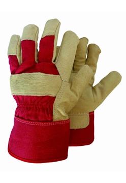 Ρουχα Εργασιας, φορμες εργασιας, στολες  της Γάντια δερματοπάνινα τύπου PASA  Συσκευασια των 10 τεμ. (ΚΩΔ: 8602-071)