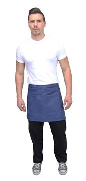 Ρουχα Εργασιας, φορμες εργασιας, στολες  της Ποδιά σέρβις τζιν με τσέπες 38 cm(ΚΩΔ: 1A1013)