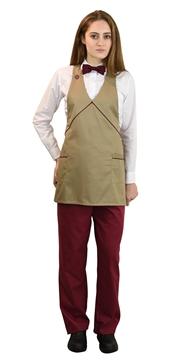 Ρουχα Εργασιας, φορμες εργασιας, στολες  της Ποδιά γυναικεία με διχρωμία (ΚΩΔ.:1A112A)