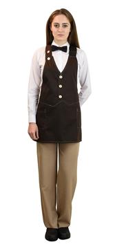 Ρουχα Εργασιας, φορμες εργασιας, στολες  της Ποδιά γιλέκο γυναικεία (ΚΩΔ: 1A111R)