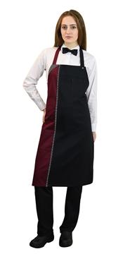 Ρουχα Εργασιας, φορμες εργασιας, στολες  της Ποδιά με στήθος δίχρωμη (ΚΩΔ.:1A1568)