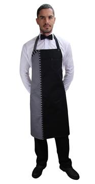 Ρουχα Εργασιας, φορμες εργασιας, στολες  της Ποδιά με στήθος δίχρωμη (ΚΩΔ.:1A1568A)