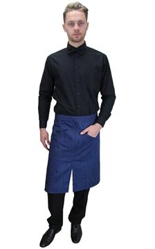Ρουχα Εργασιας, φορμες εργασιας, στολες  της Ποδιά σέρβις τζιν με σχίσιμο (ΚΩΔ: 1A1609)