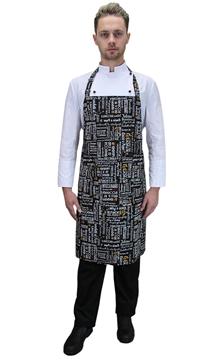 Ρουχα Εργασιας, φορμες εργασιας, στολες  της Ποδιά στήθους με σχέδιο (ΚΩΔ.:1N1013)