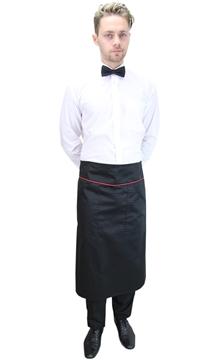 Ρουχα Εργασιας, φορμες εργασιας, στολες  της Ποδιά σερβιτόρου μισή με φιτίλι (ΚΩΔ.:1N1023)