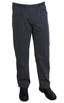 Ρουχα Εργασιας, φορμες εργασιας, στολες  της Παντελόνι μαύρο ριγέ με λάστιχο (ΚΩΔ.:1N1024)