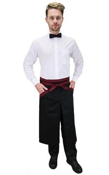 Ρουχα Εργασιας, φορμες εργασιας, στολες  της Ποδιά σέρβις μισή με σχίσιμο δίχρωμη (ΚΩΔ.:1N1037)