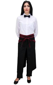 Ρουχα Εργασιας, φορμες εργασιας, στολες  της Ποδιά σέρβις μισή με σχίσιμο δίχρωμη (ΚΩΔ.:1N1037A)