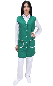 Ρουχα Εργασιας, φορμες εργασιας, στολες  της Μπλούζα γυναικεία αμάνικη με κουμπιά (ΚΩΔ.:1B111)