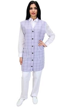 Ρουχα Εργασιας, φορμες εργασιας, στολες  της Μπλούζα γυναικεία αμάνικη με κουμπιά (ΚΩΔ.:1B111A)