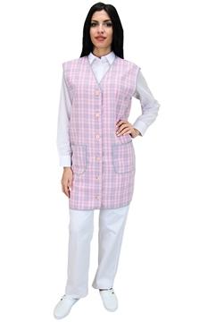 Ρουχα Εργασιας, φορμες εργασιας, στολες  της Μπλούζα γυναικεία αμάνικη με κουμπιά (ΚΩΔ.:1B111B)