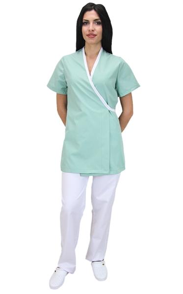 Ρουχα Εργασιας, φορμες εργασιας, στολες  της Μπλούζα γυναικεία κρουαζέ με κοντό μανίκι (ΚΩΔ.:1N1040)