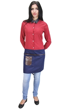 Ρουχα Εργασιας, φορμες εργασιας, στολες  της Ποδιά σέρβις τζιν (ΚΩΔ :1N1046)