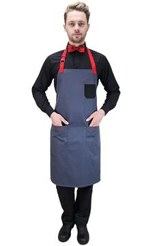 Ρουχα Εργασιας, φορμες εργασιας, στολες  της Ποδιά στήθους με τριχρωμία και δύο τσέπες (ΚΩΔ.:1N1048A