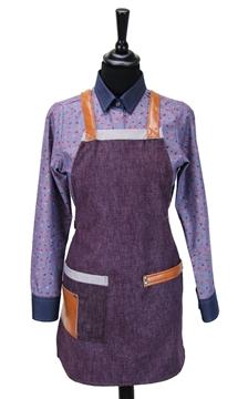Ρουχα Εργασιας, φορμες εργασιας, στολες  της Ποδιά στήθους γυναικεία χιαστή/ύφασμα (ΚΩΔ.:1N1060)