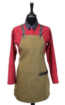 Ρουχα Εργασιας, φορμες εργασιας, στολες  της Ποδιά στήθους γυναικεία χιαστή με κρίκο (ΚΩΔ.:1N1056)