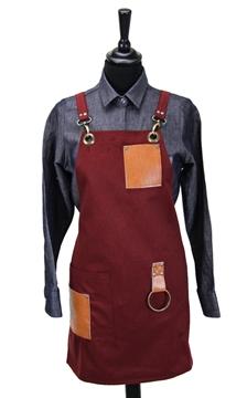 Ρουχα Εργασιας, φορμες εργασιας, στολες  της Ποδιά στήθους γυναικεία χιαστή (ΚΩΔ.:1N1063)
