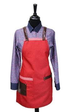 Ρουχα Εργασιας, φορμες εργασιας, στολες  της Ποδιά στήθους γυναικεία χιαστή/ύφασμα (ΚΩΔ.:1N1059)