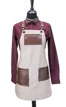 Ρουχα Εργασιας, φορμες εργασιας, στολες  της Ποδιά στήθους γυναικεία χιαστή/ύφασμα (ΚΩΔ.:1N1080)