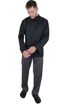 Ρουχα Εργασιας, φορμες εργασιας, στολες  της Σακάκι Σεφ με διπλό φιτίλι και τρουκ (ΚΩΔ: 1S1158)