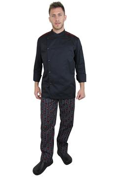 Ρουχα Εργασιας, φορμες εργασιας, στολες  της Σακάκι chef slim fit με ελαστικό αναπνέον ύφασμα (ΚΩΔ.:1S1157)