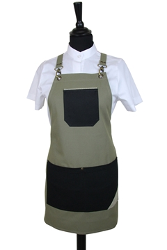 Ρουχα Εργασιας, φορμες εργασιας, στολες  της Ποδιά στήθους γυναικεία χιαστή (ΚΩΔ.:1PSG001)