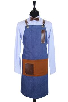 Ρουχα Εργασιας, φορμες εργασιας, στολες  της Ποδιά τζίν χιαστή με κρίκο (ΚΩΔ.:1PSA003)