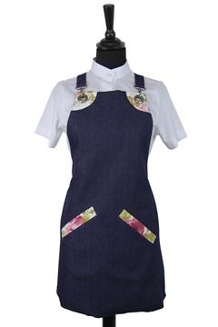 Ρουχα Εργασιας, φορμες εργασιας, στολες  της Ποδιά στήθους γυναικεία χιαστή (ΚΩΔ.:1PSG007)