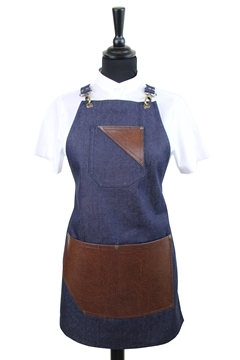 Ρουχα Εργασιας, φορμες εργασιας, στολες  της Ποδιά στήθους γυναικεία χιαστή (ΚΩΔ.:1PSG009)