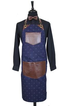 Ρουχα Εργασιας, φορμες εργασιας, στολες  της Ποδιά στήθους εμπριμέ τζιν (ΚΩΔ.1PSA015)
