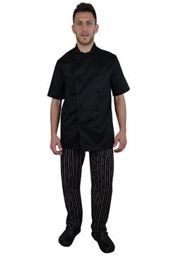 Ρουχα Εργασιας, φορμες εργασιας, στολες  της Μπλούζα μάγειρα με κοντό μανίκι (ΚΩΔ: C734)