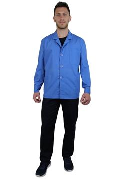 Ρουχα Εργασιας, φορμες εργασιας, στολες  της Σακάκι ανδρικό μπλε ραφ με πέτο γιακά μακρύ μανίκι (ΚΩΔ.1S204)