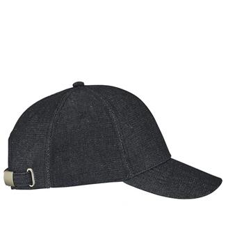 Ρουχα Εργασιας, φορμες εργασιας, στολες  της Εξάφυλλο καπέλο τζόκεϊ unisex από ύφασμα τζιν FOXY (ΚΩΔ: 02115)